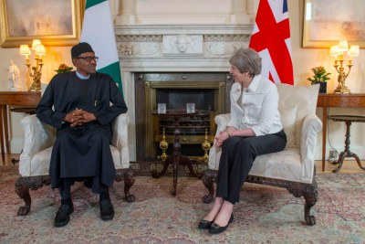 President Muhammadu Buhari and UK Prime Minister, Theresa May.