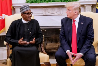 President Donald Trump hosted Nigerian President Muhammadu Buhari at the White House in 2018 - Trump's first official visit from an African head of state.