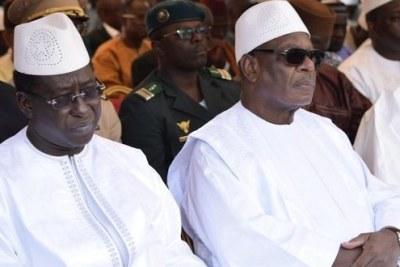 Le président malien IBK et le chef de l'opposition Soumaila Cissé.