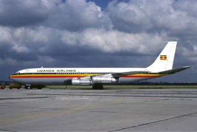 A plane belonding to the defunct Uganda Airlines (file photo).