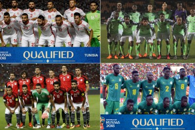 Tunisia, Nigeria, Egypt and Senegal national teams.