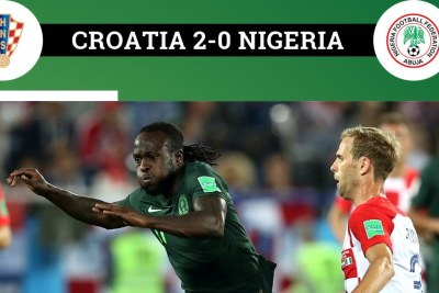 Super Eagles lose to Croatia.