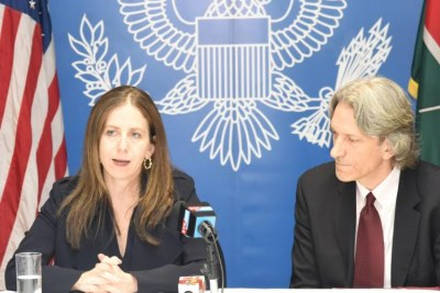 U.S. Treasury Under Secretary for Terrorism and Financial Intelligence Sigal Mandelker, along with John Prendergast, Enough's Founding Director and Co-Founder of The Sentry, participated in an NGO roundtable in Nairobi on June 13, 2018.