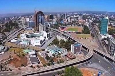 Une vue de la capitale éthiopienne Addis Abéba