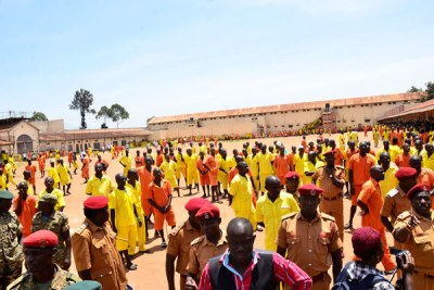 Inmates at Luzira Maximum Security Prison.