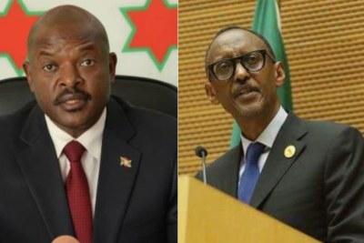 Le président burundais, Pierre N'Kurunziza face à son homologue rwandais, Paul Kagame