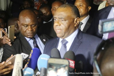 Jean-Pierre Bemba in Kinshasa (file photo).
