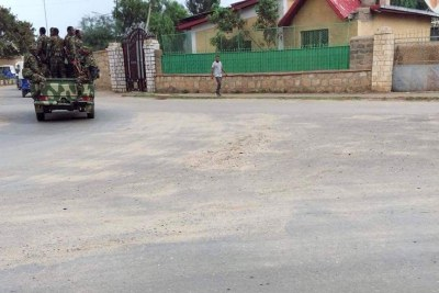 The fed defense force moving into Jigjiga city, the capital of the Ethiopian Somali regional state.