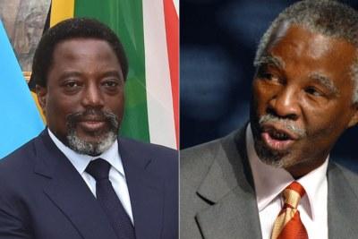 Left: DRC President Joseph Kabila. Right: Former South African president Thabo Mbeki.