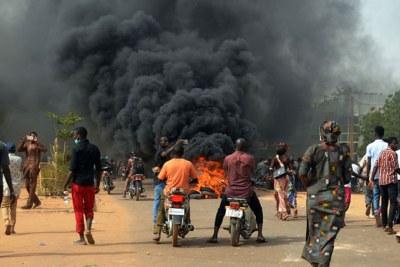 Scene of a violent attack in Kaduna State (file photo).