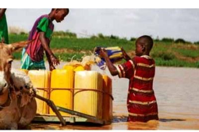 Un enfant à la recherche d'eau