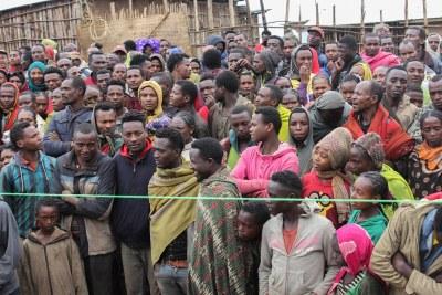 (Photo d'archives) - Des manifestants sidama en Ethiopie.