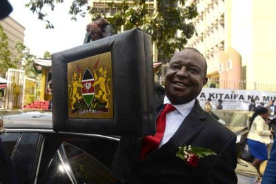 National Treasury Cabinet Secretary Henry Rotich on his way to Parliament to present the 2018/2019 budget statement on June 14, 2018.