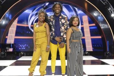 Idols top 3 - Thato, Thando and Yanga.
