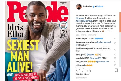 Idris Elba is People's Sexiest Man Alive for 2018.