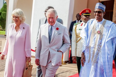 Prince Charles and Camilla's three-day visit to Nigeria is part of their nine-day tour of Africa.