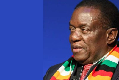 President Emmerson Mnangagwa (file photo).