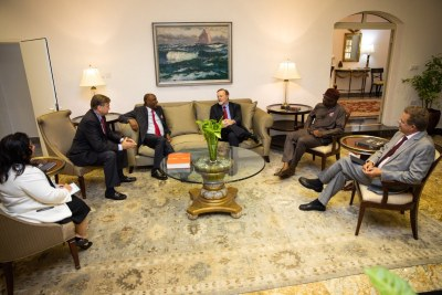 Assistant Secretary for State for African Affairs Tibor Nagy on his previous visit to Africa, meeting with Nigerian electoral officials and politicians on November 8, 2018.