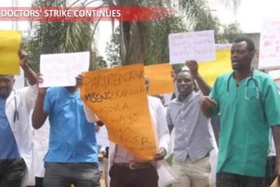 Striking doctors in Zimbabwe.