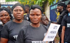On Thursdays Liberians Wear Black to End Gender Violence