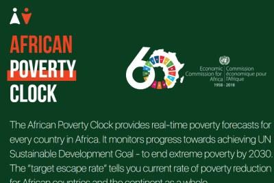 Horloge africain de mesure de la pauvreté