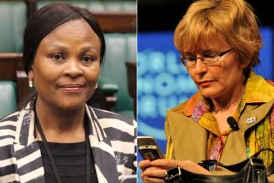 Left: Public Protector Busisiwe Mkhwebane. Right: Western Cape Premier Helen Zille.