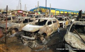 Lagos Pipeline Vandalism Causes Devastating Fire