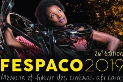 L'affiche (détail) officielle de la 26e édition du Fespaco qui aura lieu du 23 février au 2 mars 2019 à Ouagadougou, au Burkina Faso.