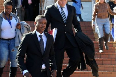 Former president Jacob Zuma's son Duduzane leaves the Randburg Magistrate's Court (file photo).