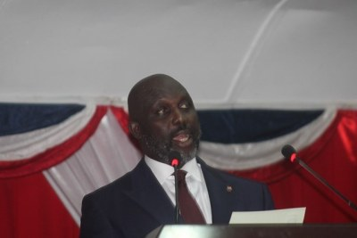 President George M. Weah,(file photo).