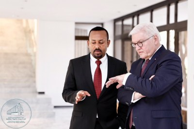 PM Abiy Ahmed received a courtesy call from the President of the Federal Republic of Germany, H.E. Frank Walter Steinmer.