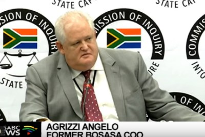 Bosasa boss Angelo Agrizzi on the final day of his testimony at the state capture commission of inquiry.
