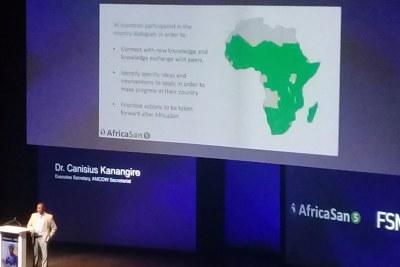 Cérémonie de clôture de AfricaSan5 et FSM5, le jeudi 21 février 2019 au Centre Internationale de Conférence de Cape Town (Afrique du Sud)