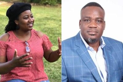 MDC Alliance MPs Joana Mamombe, left, and Charlton Hwende, right.