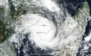 Tropical Cyclone Idai Makes Landfall in Mozambique