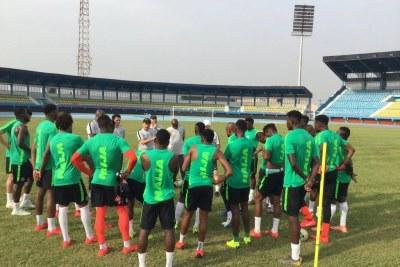 Super Eagles begin training in Asaba ahead of Seychelles, Egypt ties.