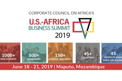 Corporate Council on Africa (CCA) will co-host with the Government of Mozambique the 12th U.S.-Africa Business Summit on June 18-21, 2019 at the Joaquim Chissano International Conference Center, in Maputo, Mozambique.