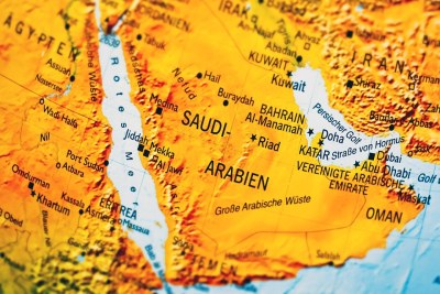 Saudi Arabia on map.