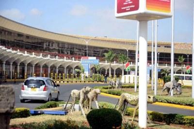 A section of the Jomo Kenyatta International Airport in Nairobi.