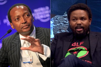 Left: Billionaire businessman Patrice Motsepe. Right: Black First, Land First leader Andile Mngxitama.