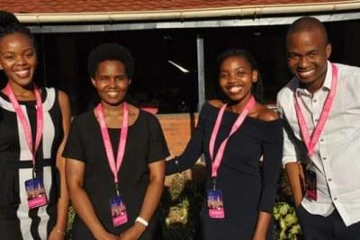 Rhodes University's Team E-Smart: Nobuhle Ndebele (24), Lindokuhle Nene (25), Reitumetse Nkhahle (26) and Gauta Matlou (29).