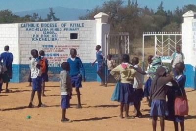 Pupils of Kacheliba Mixed Primary School in West Pokot County.