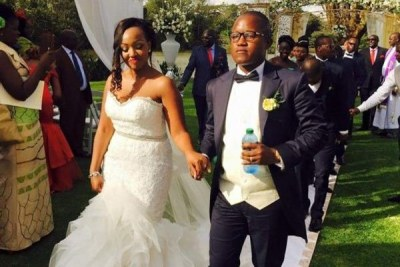 Flashy businessman Jared Otieno and Kendi Mwiti wedding.