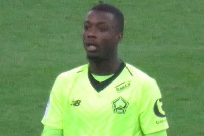 Nicolas Pépé sous le maillot du LOSC Lille en 2019.
