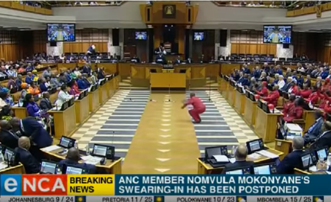 Malema, EFF Members Dance Their Way Into South African Parliament
