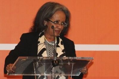 Mme Sahle-Work Zewde, présidente de la République démocratique d'Ethiopie, le 22 mai 2019 à Addis Abeba