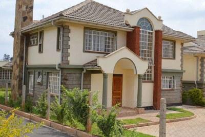 A four-bedroom house in Runda Paradise, a gated community near Runda Estate.
