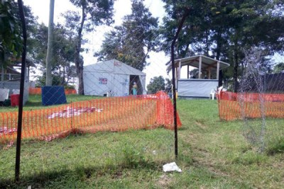 The isolation centre set up in Bwera, Kasese District where the five-year-old boy who tested positive for Ebola died from.