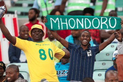 Zimbabwe football fans (file photo).