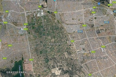 Satellite view of the Cape Flats.